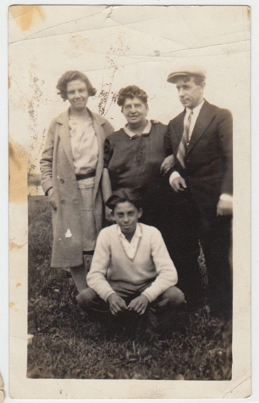 Center Elvira, Antonio far right -