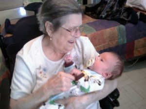 Auntie Phyllis  and her great grandchild