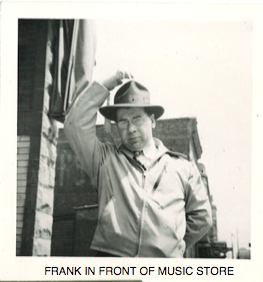 Frank in front of music store - Frank in front of music store