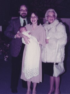 Ashley with her Godparents and my mother 1984