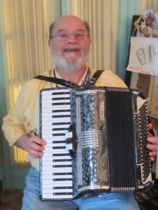 Rob Winike with his Accordion